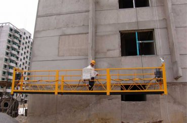 7.5m prilagođeno 800 kg obložene platforme za čišćenje zgrada, pin tipa